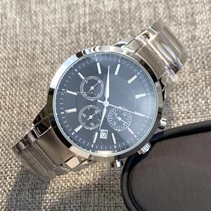 Steel black dial