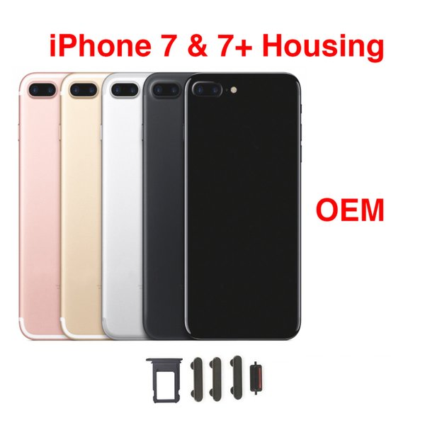 Back Rear Cover Battery Housing Door Chassis Middle Frame For IPhone 7 7 Plus White Gold Rose Jet And Matte Black