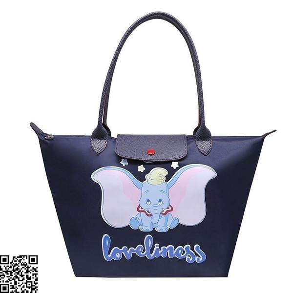 Bolsos de mujer bolsos de compras de ocio para mujeres bolsos de compras de elefante volador plegables tela de lona impermeable tamaño 31x30cm caliente