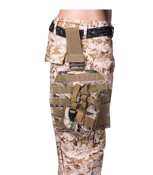 Outdoor Tactical MOLLE Drop Leg Bag Platform Panel with Pistol Holster Adjustable Nylon Magazine Pouch Bag