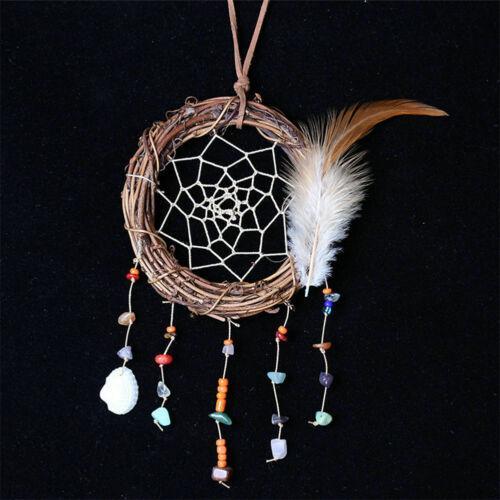 1pc Traumfänger Start Feder Handgemachte hängende Dekorationen Ornament Wind Chimes Wohnzimmer Schlafzimmer Schöne Geschenke Art und Weise neu