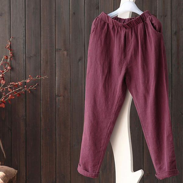 Designer Sweatpants Pantalon en coton femmes Pantalons femmes et linge d'été et New desserrées Pantalons longs Casual Mode Harem Pantalon