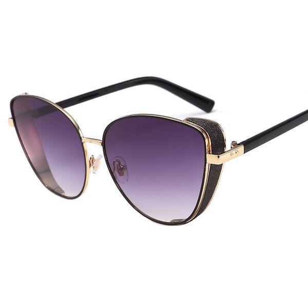 2019 new sunglasses Europe and the United States retro metal sunglasses tide women fashion sunglasses