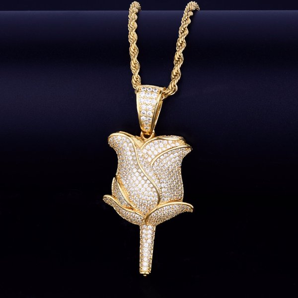 gold pendant with 20inch rope chain