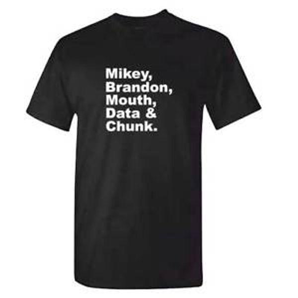 Сумасшедшая футболка Мужская Майки Брэндон Data Mouth Chunk Трюфель SArrivefle DVD Cult