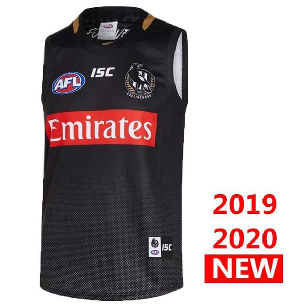 best selling Thailand 2019 COLLINGWOOD HOME GUERNSEY Rugby Jerseys AFL Collingwood jersey singlet League shirt vest s-3xl