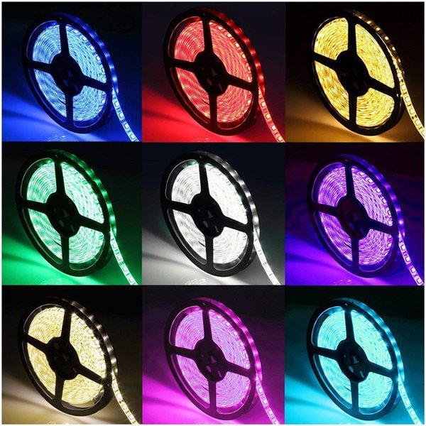 12V 5M RGB WIFI LED Strip Light 5050 LED luce flessibile LED Diodo nastro nastri WIFI s 12V adattatore di alimentazione