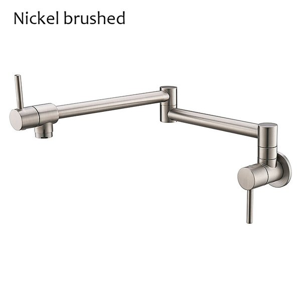 Matt Black/Chrome/Gold/Nickle Brushed Brass Free Rotation Single Cold Kitchen Faucet Foldable Sink Water Tap Wall Mounted