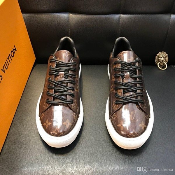 New15 fashion casual men's shoes wild sports shoes outdoor comfortable high-end pattern men's shoes original box packaging fast de