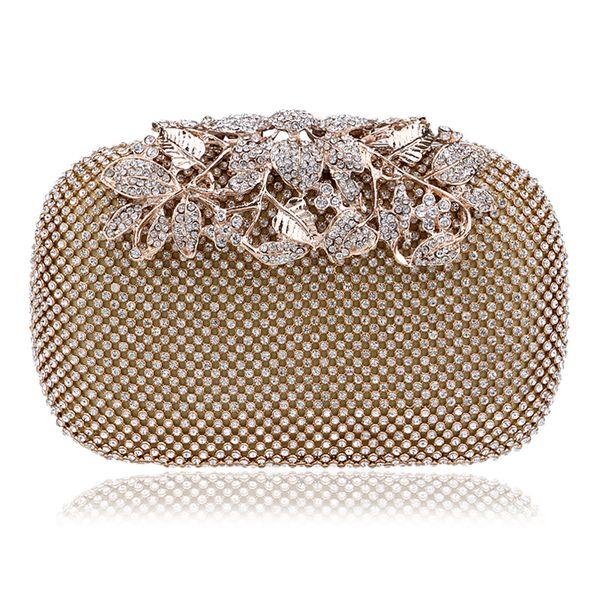 Small Gold Bags for Women Rhinestone Shoulder Bag Mini Crossbody Bags Female Handbag Clutch Purse Phone Pockets