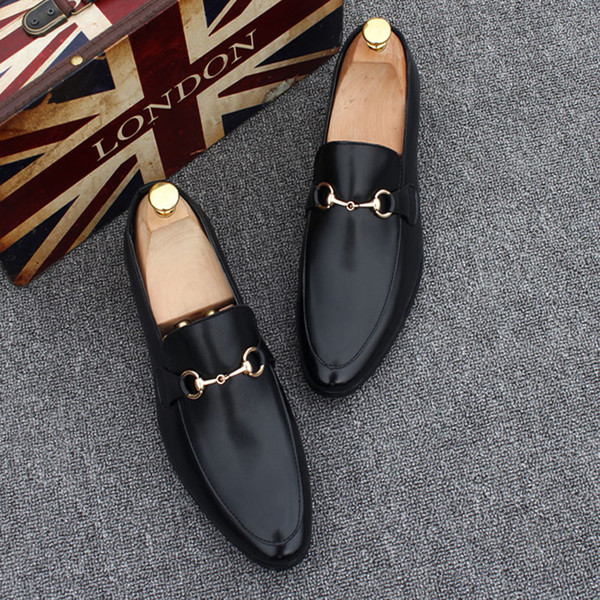 Lucky2019 Big Yards Hommes Bas Sneaker De Luxe Parti Chaussures De Mariage, Cuir Véritable Louisfalt Pointes Chaussures À Lacets Dha15