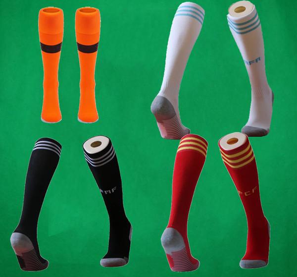 2019 Calcetines de fútbol de México Rodilla Calcetín de fútbol de algodón Calcetines deportivos argentinos Hombres Espesar Toalla Parte de abajo 19 20 Equipo nacional manguera larga