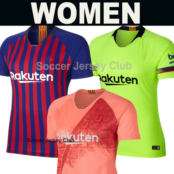 timeless design 1f10f a2ed5 2018 Women 18 19 FC Barcelona Soccer Jersey MESSI Female Pink Champions  2018 2019 Suárez DEMBELE COUTINHO Girls Top Thai Quality Football Shirt  From ...