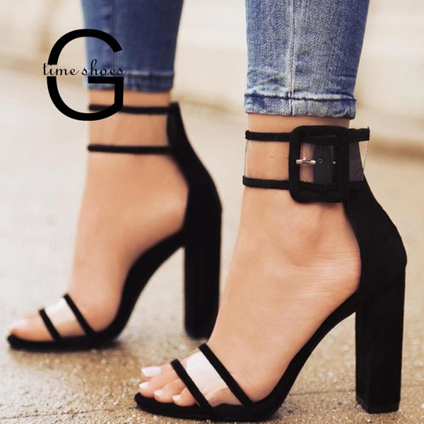 Dress Shoes Gtime Peep Toes Woman Plus Size Sandals T-stage Fashion Dancing High Heel Sandals Sexy Stiletto Party Wedding Se603