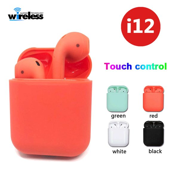 I12 Tws Bluetooth 5 0 Wireless Bluetooth Headphones Earphones Colorful  Touch Control Wireless Headset Earbuds With Charger Box Earbuds For Cell  Phones