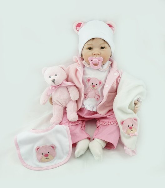 Bebe Reborn 55cm realistic lifelike reborn baby doll playing toys for kids Christmas Gift soft silicone dolls