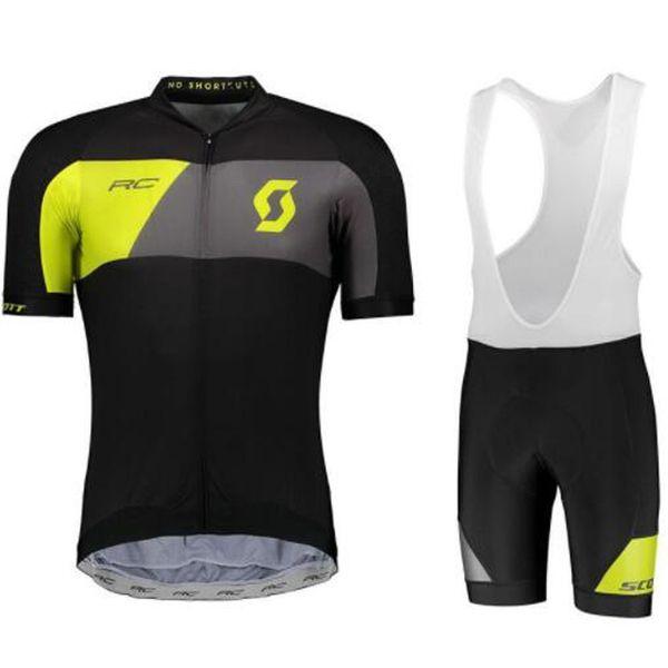 SCOTT Bisiklet Formaları Setleri Serin Bisiklet Suit Bisiklet Jersey Nefes Bisiklet Kısa Kollu Gömlek Önlüğü Şort erkek Bisiklet Giyim Ropa Ciclismo