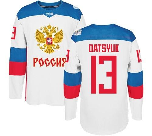 2b032de8f 2019 Men Hockey jerseys Russia 13 DATSYUK ANY NAME ANY NUMBER RED WHITE new  jersey size S-3XL