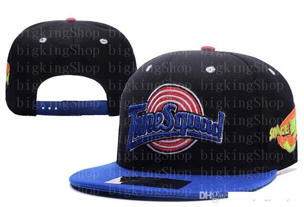 Art- und Weisehysteresen Baseball-Hysteresen Basketball-Verschluss-zurück Hüte Damen Herren Tellermützen Hip Hop Caps Günstige Sport-Hüte Tune Squad oben