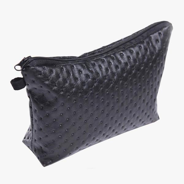 Nice Black Dot 2D Printing Leather Cosmetic Bags Travel Organizer Nice Fashion New Pencil Case Women Makeup Bag