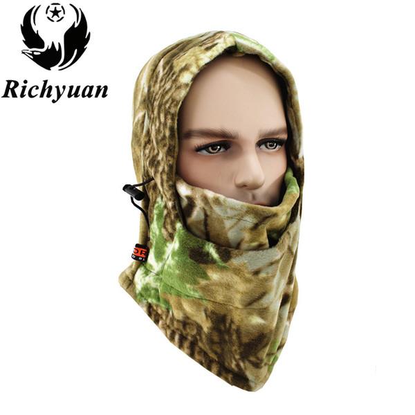 Зимний теплый флис Шапочки Головные уборы для мужчин Камуфляж Bandana шеи Теплее Балаклава маска для лица Wargame Спецназа маски