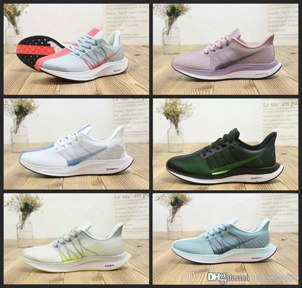 Nueva zoom Pegasus 35 Turbo Apenas zapatos para correr gris caliente del sacador Negro Blanco Hombres Mujeres reaccionan 35X Fly Air diseñador zapatillas de deporte 36-45