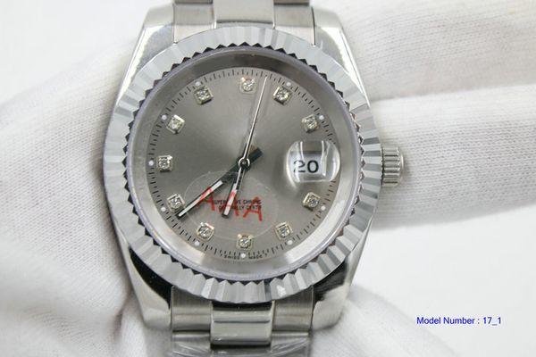 m126334-0005 uhr mann automatische edelstahluhr einzigen kalender titan farbe diamant zifferblatt mann uhr