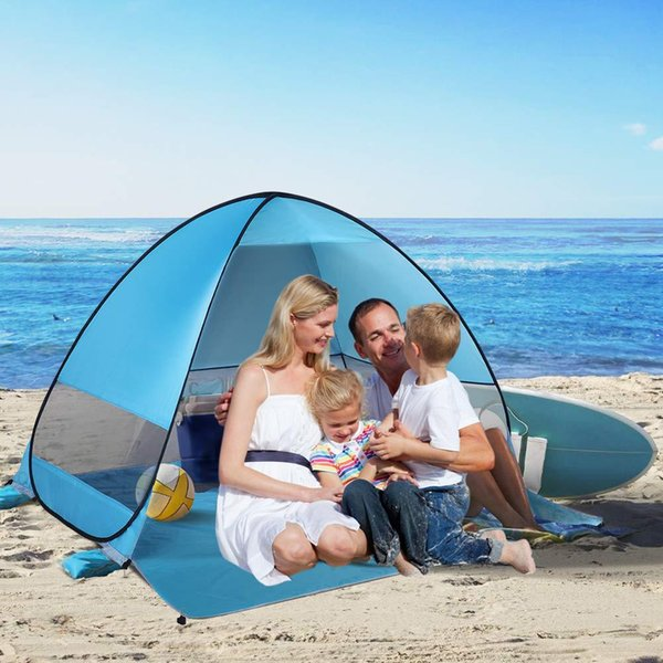 New Waterproof Tent Pop Up Beach Tent Sun Shelter Anti UV Beach Shelter For 2-3 Person Outdoor Hiking Camping Traveling Portable