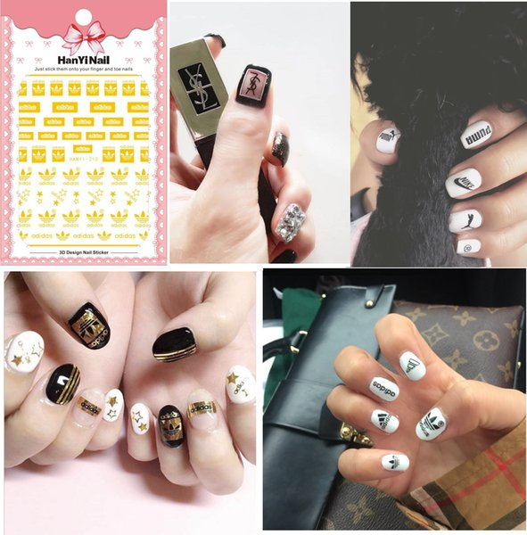 Prego Sticker japoneses série da etiqueta decalques do símbolo do Nail Art Decoração dicas de design Voltar adesivo de marca Art Stickers Hanyi194-220