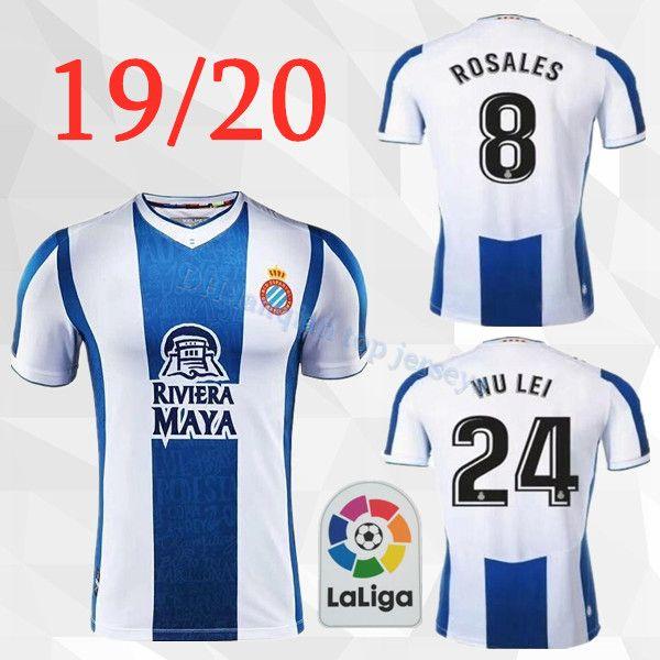 2019 2020 RCD Espanyol men soccer jersey home B. Iglesias IGIESIAS 19 20 P.PIATTI BAPTISTAO Spanish Thai quality football shirt uniforms