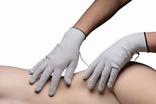 Electrical Shock Fiber Therapy Massage, Electrode Gloves, Electro Shock Gloves Electricity Conductive Gloves Sex Toys Y18110801