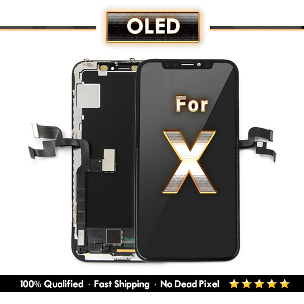 Replacement For iPhone X OLED Soft hard Tianma TFT Display And Touch Screen Digitizer OEM Quality One Year Warranty & Free DHL Shipping