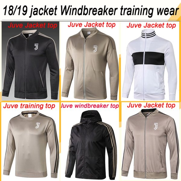 2018 19 Juventus RONALDO Training Wear Jacket Top Soccer Jerseys D.COSTA DYBALA Windbreaker Men Football Shirts Top Thailand Quality Uniform