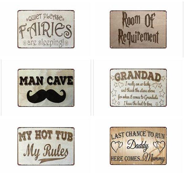 Metal Tabelalar SANAT Bar Eğlence odası Pub Restoran Ev Dekorasyon Boyama Duvar Metal SIGN Ayakkabılarınızı Vintage Wall Art Retro TENEKE Kaldır Lütfen