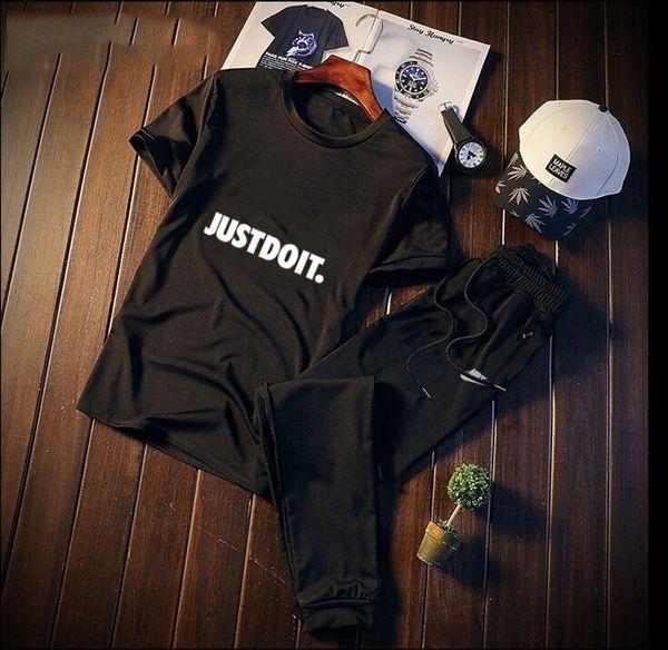 Mens été courte survêtement de haute qualité lettre imprimée mens vêtements sweat survêtement de sport top costumes de survêtement taille M-4XL
