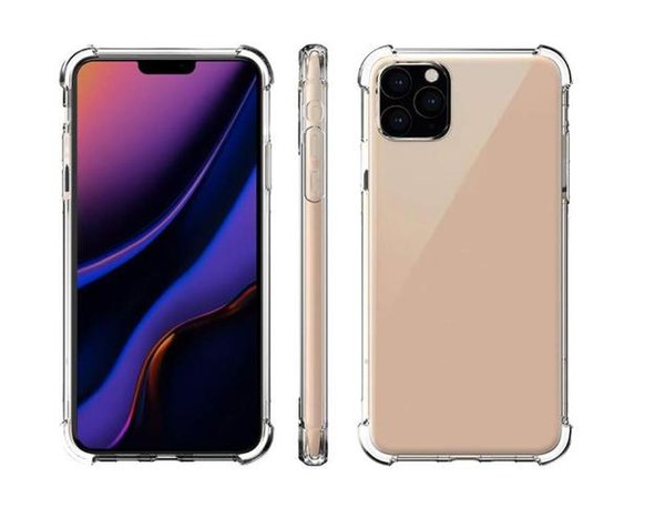 top popular Transparent Phone Case for iPhone 11 Pro MAX XS XR X for Samsung Note 10 S10 Anti-knock TPU Protective Shockproof Clear Cover 2020