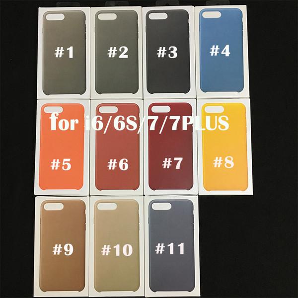 Coque en métal avec logo officiel en cuir PU pour iPhone 6 6s 7 7 Plus avec boîte de vente au détail