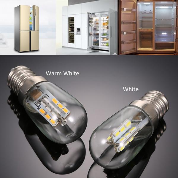 Bombilla de luz LED Mini Refrigerador Congelador Frigorífico caliente de la lámpara de cristal de la lámpara E12 Blanco Blanco AC110 / 220V