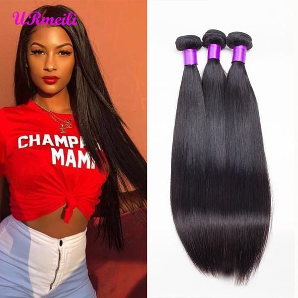 URmeili Straight Human Hair Bundles malaysian Straight cheap human hair weave 30 inch bundles 10a grade cleap dhgate virgin hair bundles
