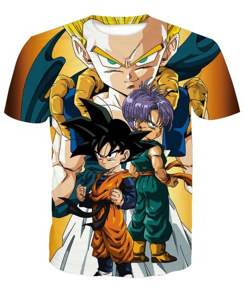 Neue Anime Japan Dragon Ball Vegeta T-shirt Kinder Goku Frauen Männer Sommer Unisex Lustige 3d Print Kurzarm Crewneck Casual Tops Q398