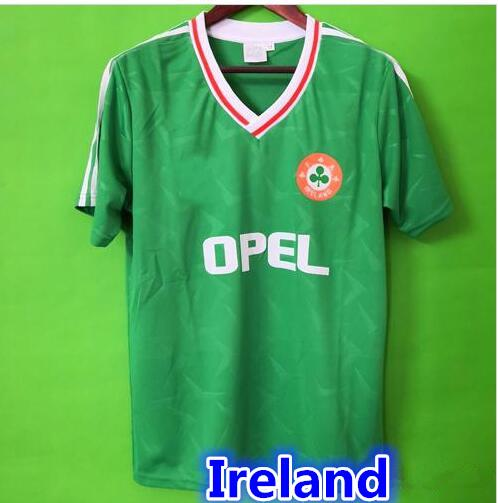 quality design 0e2a6 65fd6 2019 Top Thailand 1990 1992 Ireland RETRO Soccer Jerseys Republic Of  Ireland National Team Jersey 90 World Cup Football Kit Soccer Shirt Green  From ...
