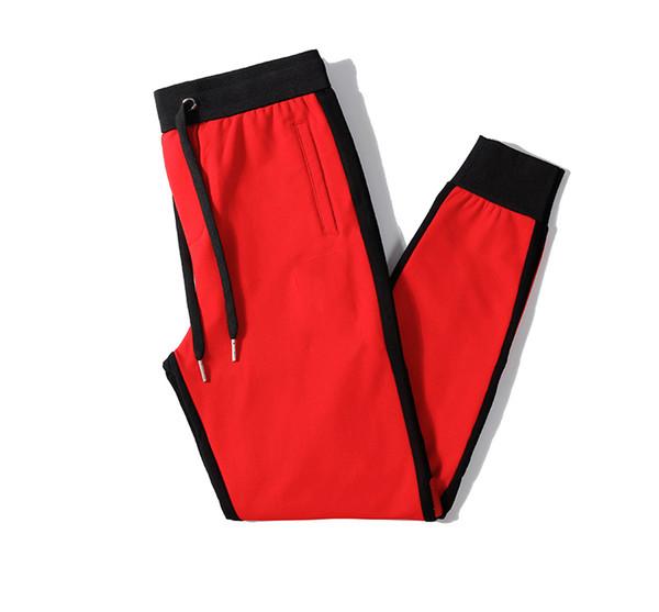 Mens Luxury Jogger Pants New Branded Drawstring Sports Pants High Fashion Side Stripe Designer Joggers B102664J