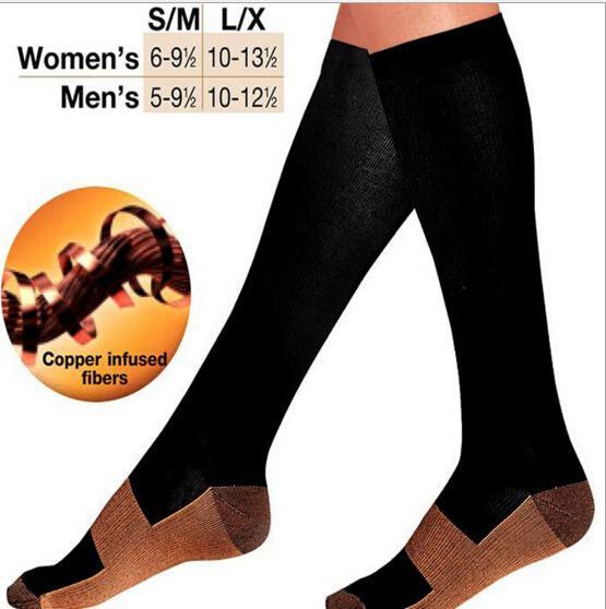 2019 Women Comfortable Soft Copper Anti-Fatigue Compression Socks Tired Achy Unisex Anti Fatigue Magic Men Socks