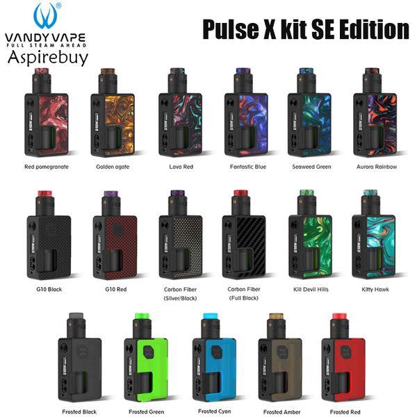 Vandy Vape Pulse X Kit Special Edition Pulse X Mod con Pulse V2 RDA 90W Uscita 17 colori Adatto 18650 Batteria 21700 Autentica