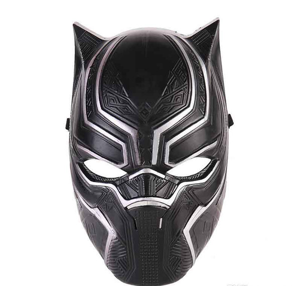Avenger Black Panther Face Mask Realistic Men's Latex Party Mask Xmas PVC Cosplay Costume Adults Masquerade Christmas Movie Fantastic