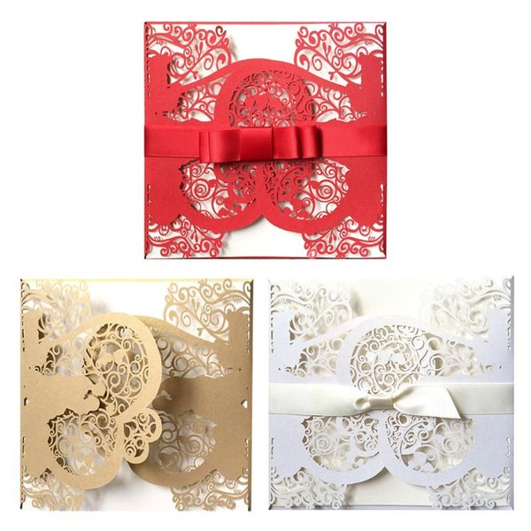 European Style Wedding Birthday Party Invitation Card With Bow Envelope Kit Party Supply Free Christmas Cards Online Free Digital Greeting Cards From