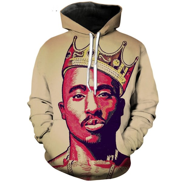 men/women rapper tupac 2pac notorious b.i.g. biggie smalls 3d printed long sleeve pullover tracksuits casual 3d hoodies h551
