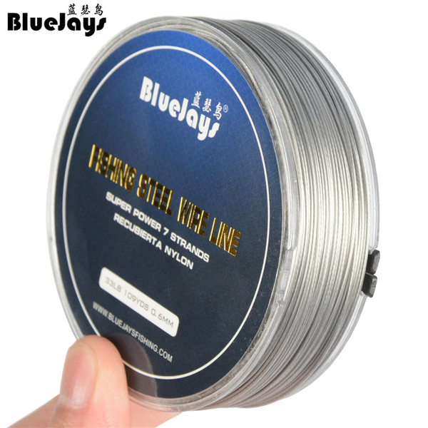 Fishing Wire Nylon Coated Toothy Fish All-Around Leader 7-Strand Stainless Steel
