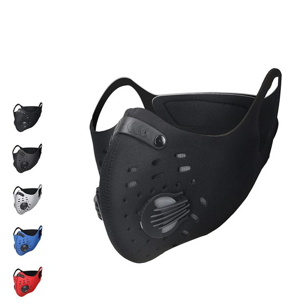 XINTOWN Men/Women Activated Carbon Dust-proof Cycling Face Mask Anti-Pollution Bicycle Bike Outdoor Running mask face shield