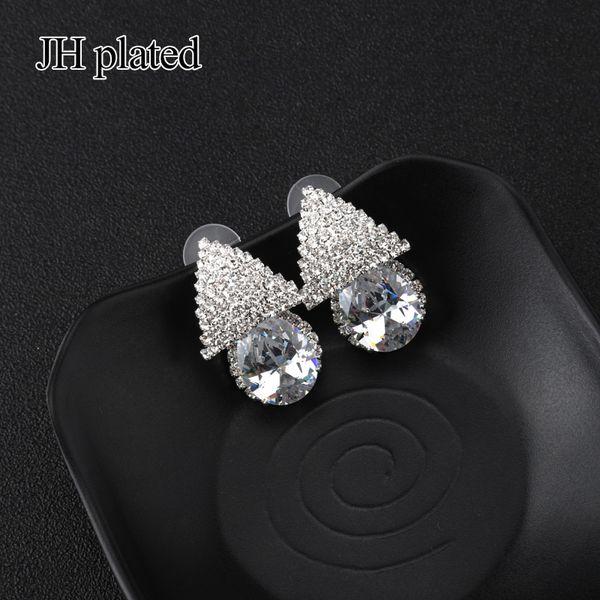 JHplated neuer Art- und Weisefrauenblitz kleine Ohrringkristallschmucksachen Frau Geschenke für Freund-Partei-Geburtstagsgeschenke